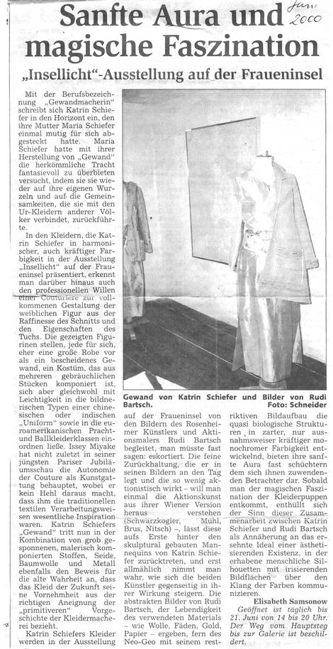 Insellicht 2000 - Ausstellung auf der Fraueninsel Chiemsee mit Rudi Bartsch